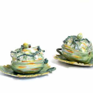 Polychrome Delftware Melon Tureens