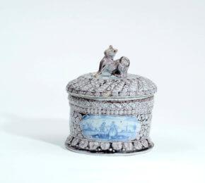 Manganese Blue Tobacco Box