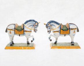 Polychrome Models Of Horses