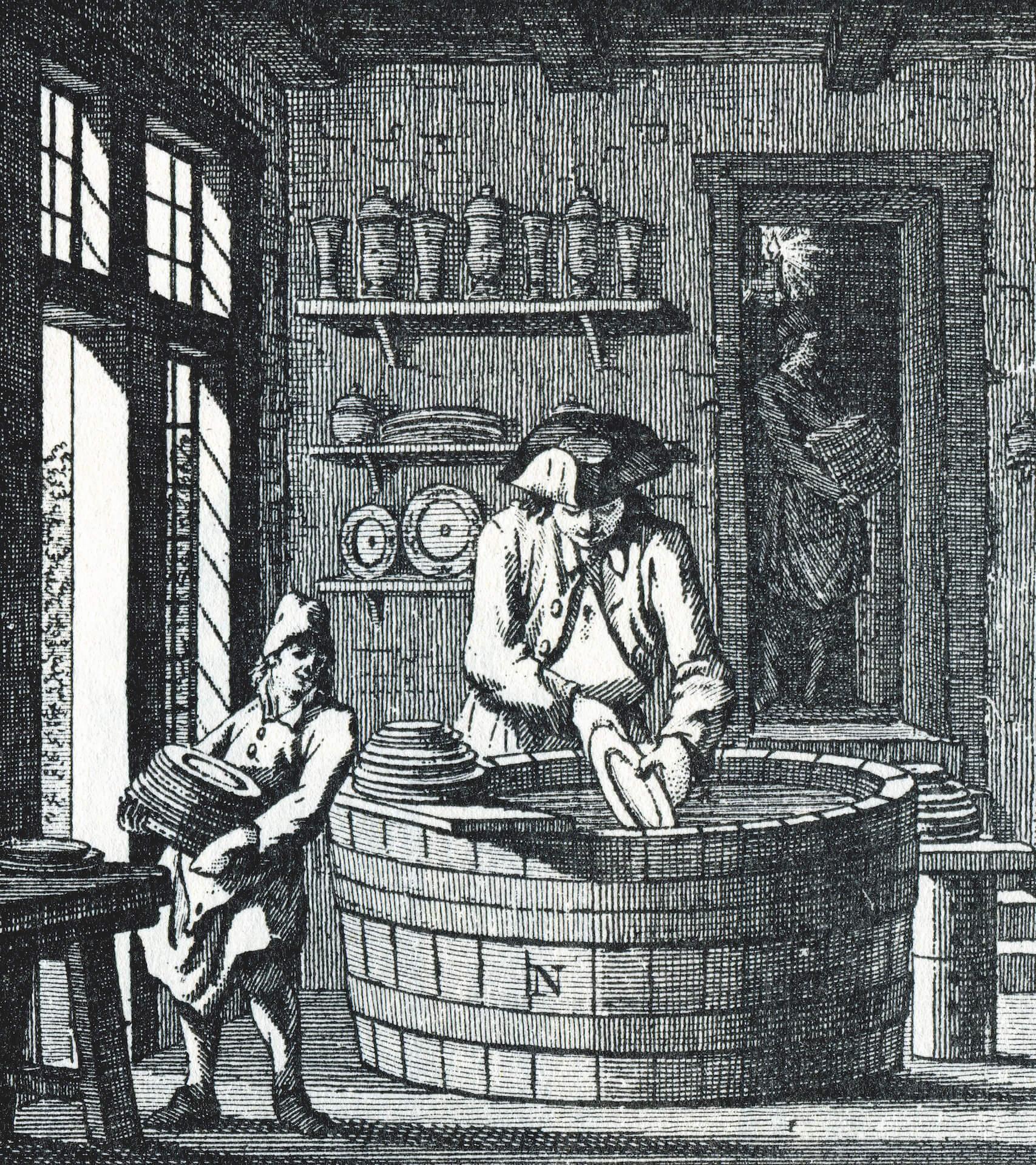 Gerrit Paape etching De Geever
