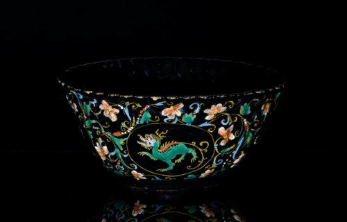Black Delftware Bowl, Circa 1710