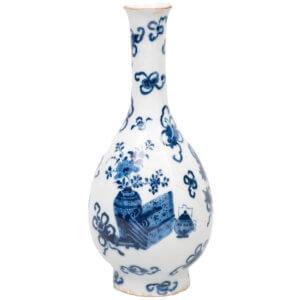Blue And White Delftware Bottle Vase