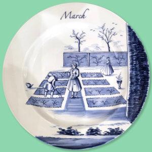Modern Delftware Plate March