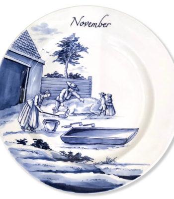 Hand-Painted Limited Edition Seasonal Plate 'November'
