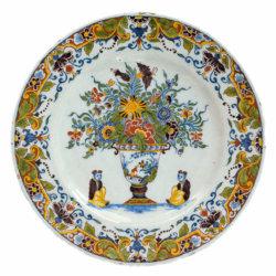1783 Polychrome Delftware Plate