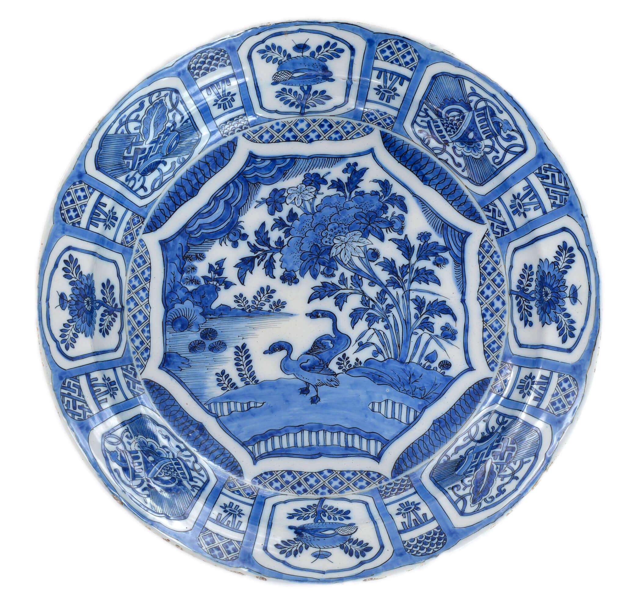 antique dishes Aronson delftware
