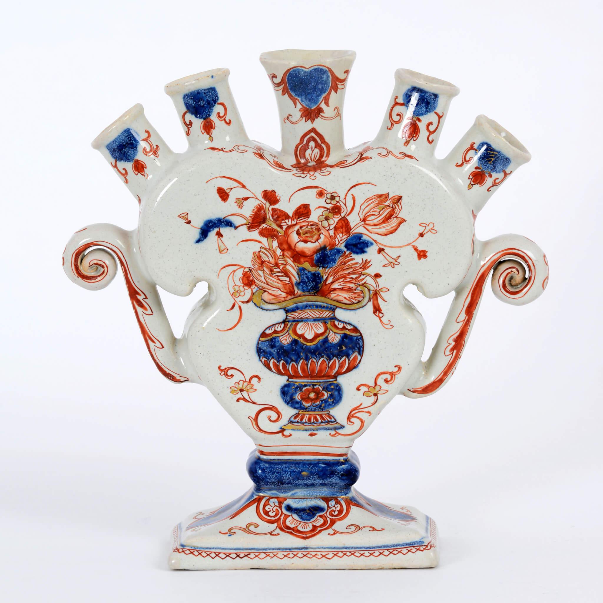 1918 Delftware tulipvase