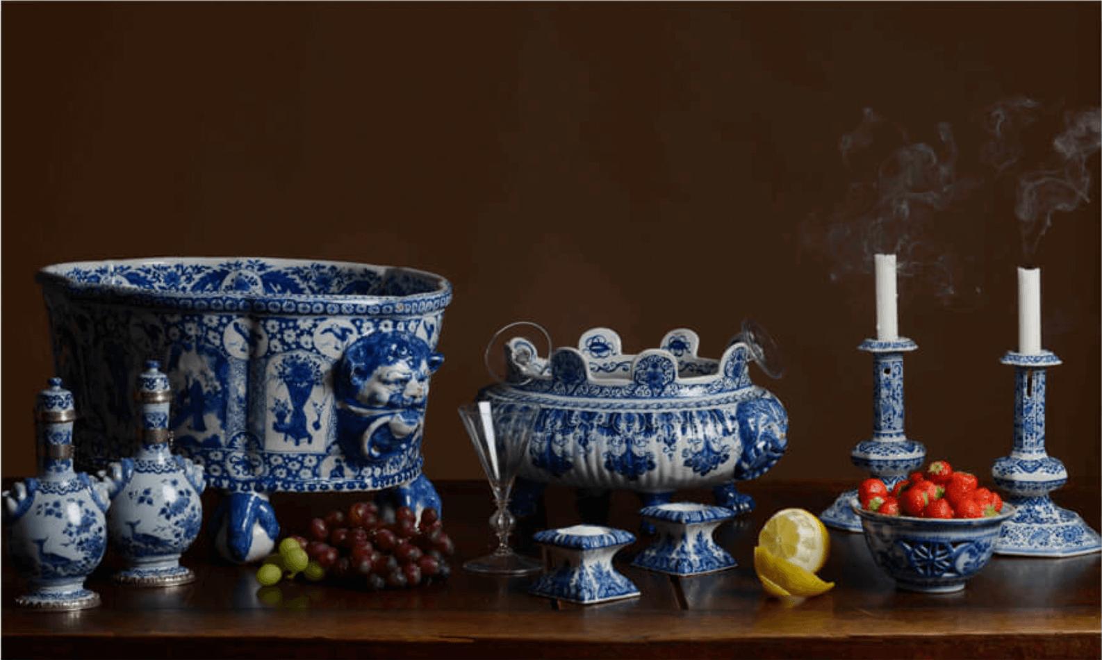 Delftware Candlesticks