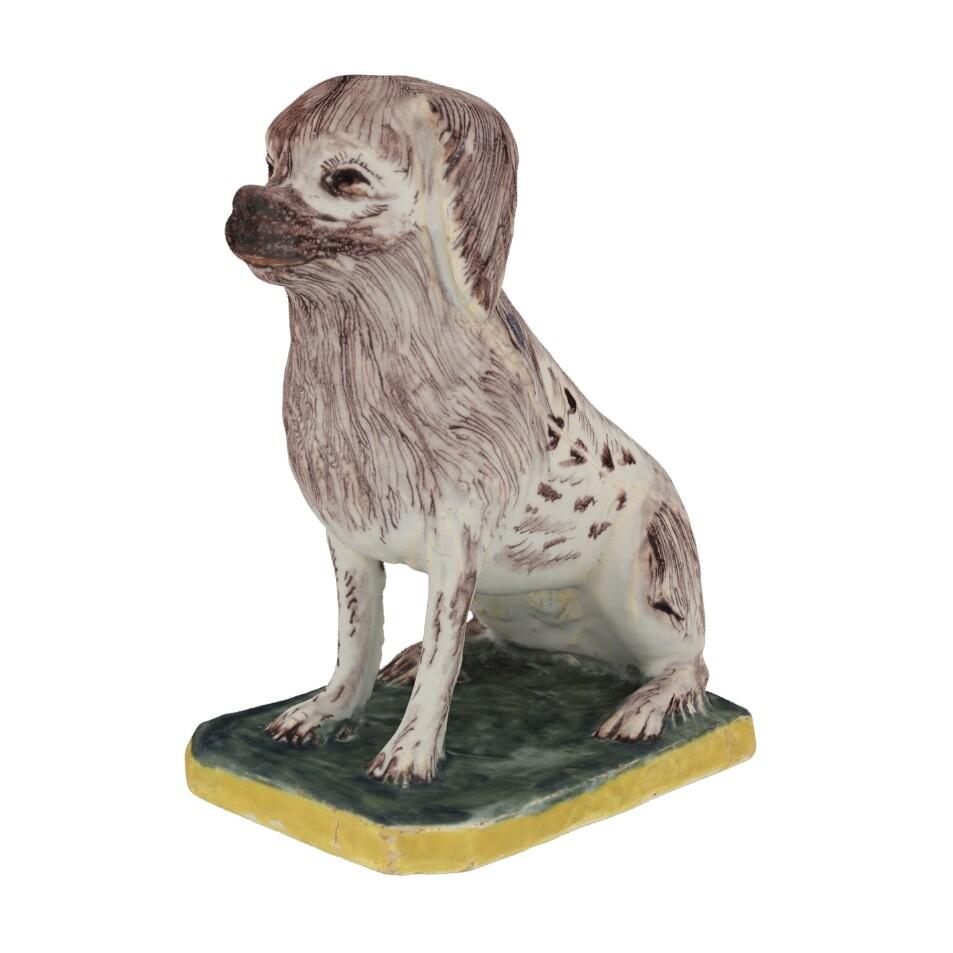 D2124 Polychrome Figure Of A Seated Spaniel